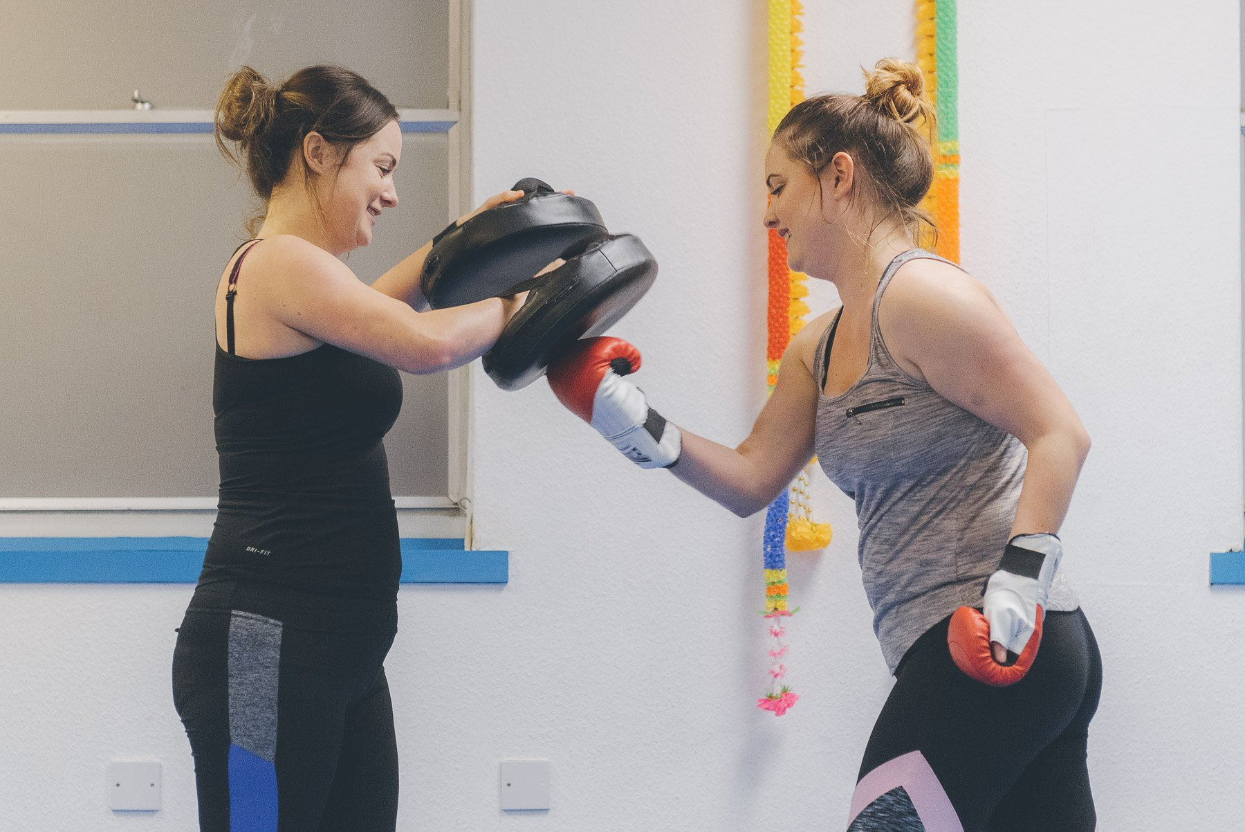 gosport martial arts ladies kickboxing fitness class