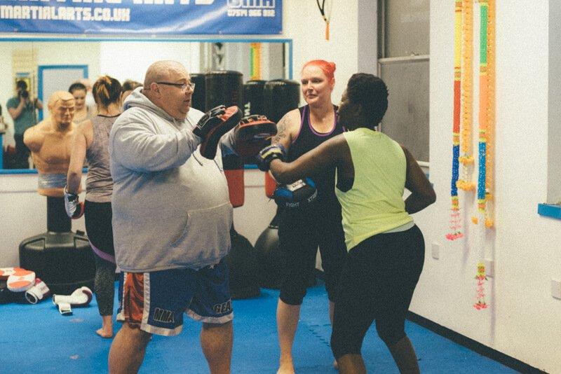 ladies kick boxing classes at Gosport Martial Arts.